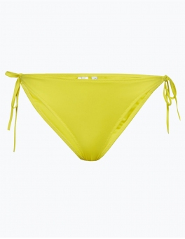 Calvin Klein - Damskie slipki do bikini – Cheeky String Side The Bikini, biały