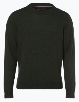 Tommy Hilfiger - Sweter męski – Heather, zielony