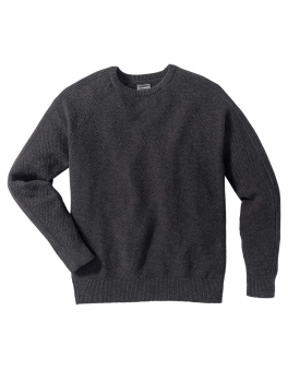 Sweter Regular Fit bonprix antracytowy melanż