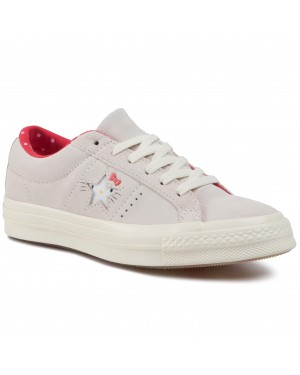 Tenisówki CONVERSE - One Star Ox 162937C Vaporous Gray/Egret/Fiery red