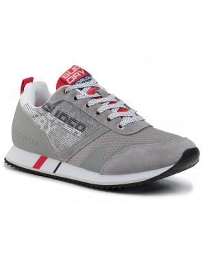 Sneakersy SUPERDRY - Fero Runner Retro MF100012A Grey Grit QOG