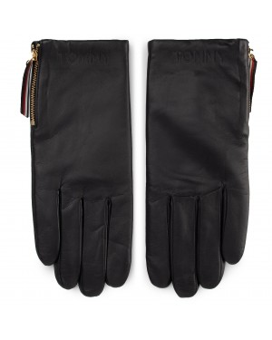 Rękawiczki Damskie TOMMY HILFIGER - Corporate Detail Leather Gloves AW0AW07190 CJM
