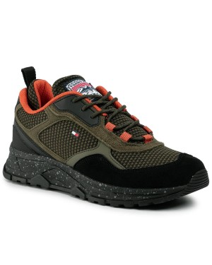 Sneakersy TOMMY HILFIGER - Fashion Mix Sneaker FM0FM02582  Amy Green RBN