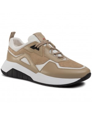 Sneakersy HUGO - Atom Runn 50428570 10214585 01 Medium Beige 260