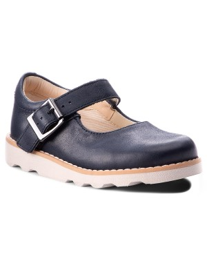 Półbuty CLARKS - Crown Honor 261358676 Navy Leather