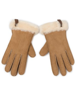 Rękawiczki UGG - W Shorty Glove W Leather Trim 17367  Chestnut