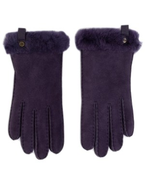 Rękawiczki UGG - W Shorty Glove W Leather Trim 17367 Nightshade