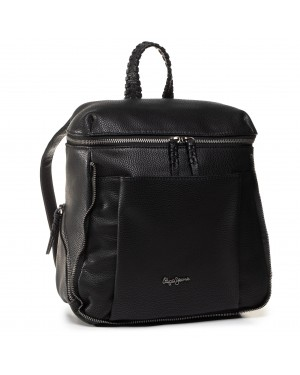 Plecak PEPE JEANS - Braid Backpack PL120028  Black 999