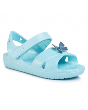 Sandały CROCS - Classic Cross Strap Sandal Ps 206245 Ice Blue