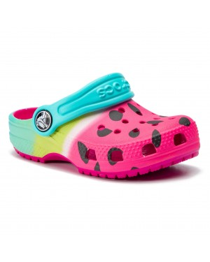 Klapki CROCS - Ombre Graphic 205653 Candy Pink