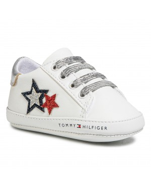 Półbuty TOMMY HILFIGER - Lace Up T0A4-30594-0886 White/Blue/red Y003